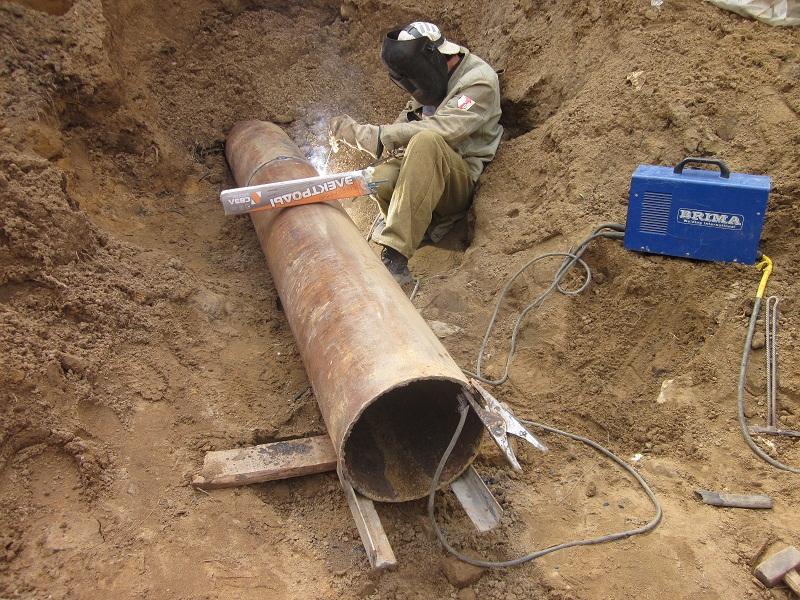 протяжка стальной трубы 325мм