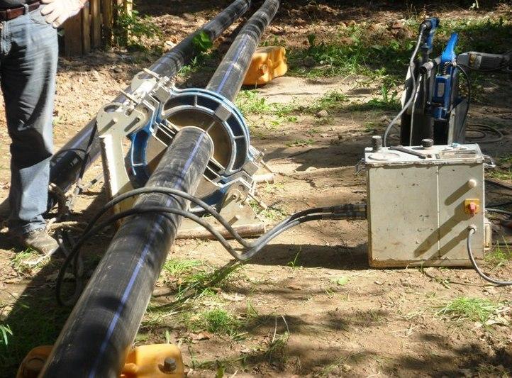 сварка полиэтиленовых труб водопровода