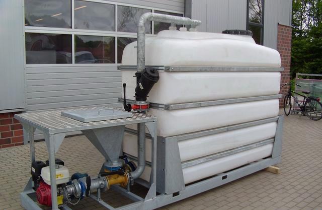 ГНБ установка DITCH WITCH JT3020, смеситель на 4000 литров