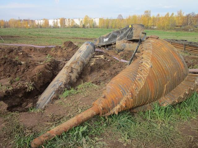 прокладка труб ПНД под рекой
