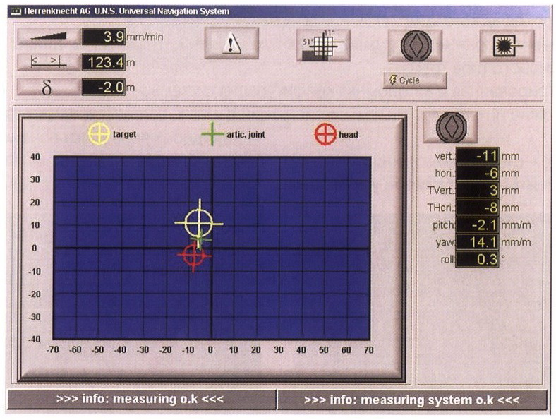 дисплей системы управления микротоннелем