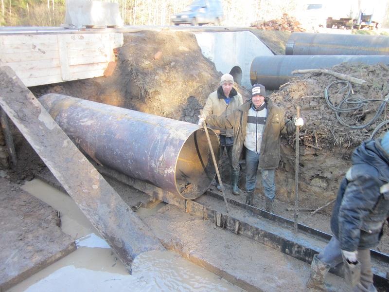 забивка трубы в грунт